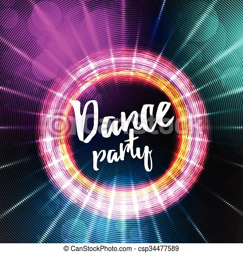 dance party poster background template vector illustration