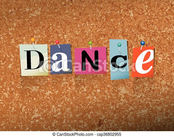 Dance Pinned Paper Concept Illustration - csp36802955