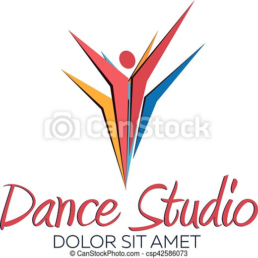 dance studio logo dancer logotype vector minimalistic vectors rh canstockphoto com dance studio logo ideas dance studio logo vector