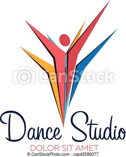 dance studio logo dancer logotype vector minimalistic vectors rh canstockphoto com dance studio logo vector dance studio logo maker