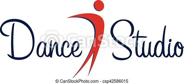 dance studio logo dancer logotype vector minimalistic vector rh canstockphoto com dance studio logo psd dance studio logo maker