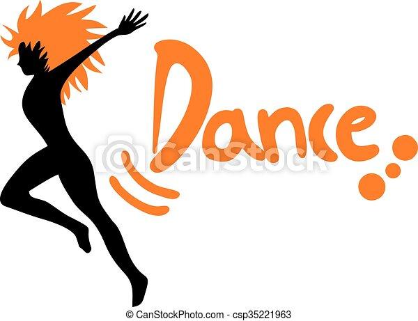 Creative Design Of Dance Symbol