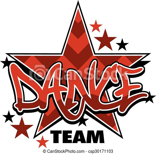 chevron dance team design with stars vector clipart search rh canstockphoto co uk dance team clip art pictures dance drill team clipart