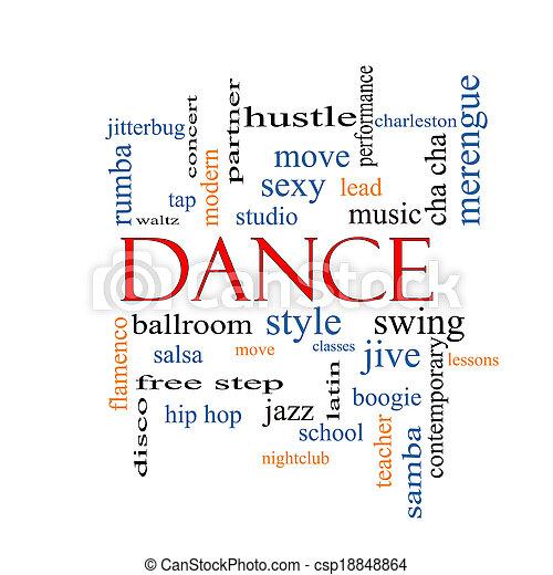 Dance Word Cloud Concept - csp18848864