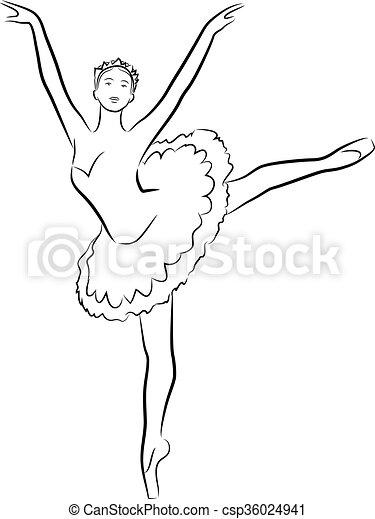 Dancing ballerina - csp36024941
