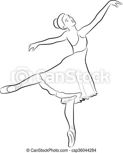 Dancing ballerina - csp36044284