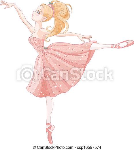 Dancing ballerina - csp16597574