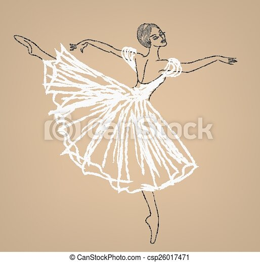 dancing ballerina - csp26017471