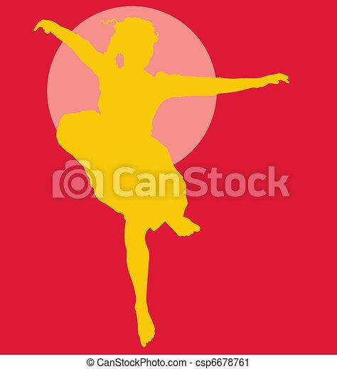 Dancing ballerina silhouette - csp6678761