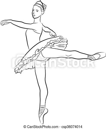 Dancing ballerina - csp36074014
