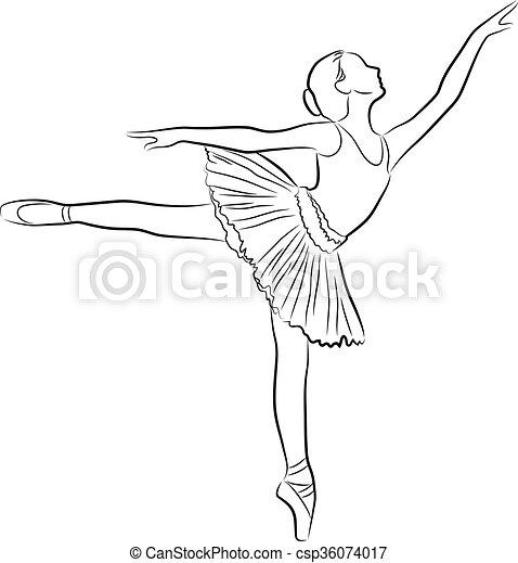 Dancing ballerina - csp36074017