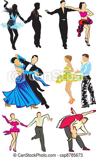 dancing - ballroom dancers - csp8785673