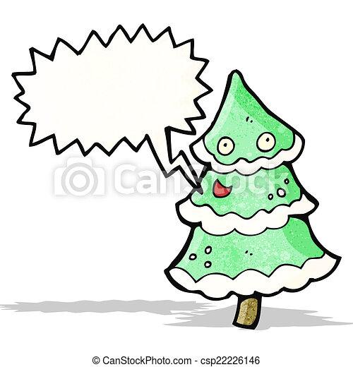 dancing christmas tree cartoon csp22226146