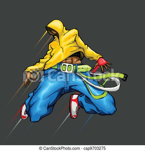 Dancing Cool Guy - csp9703275