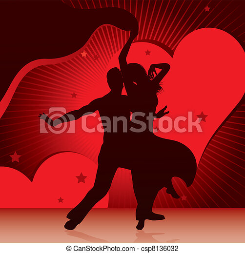 dancing couples - csp8136032