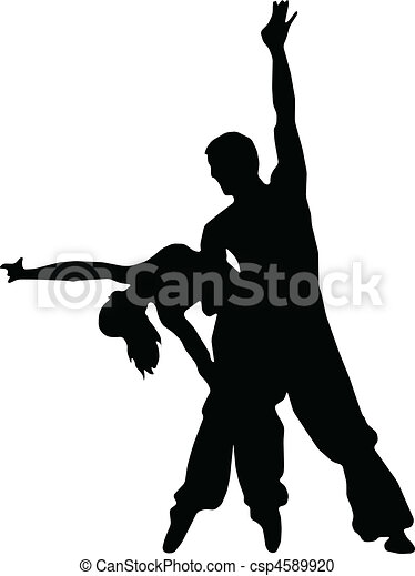 dancing couples silhouettes vector clipart search
