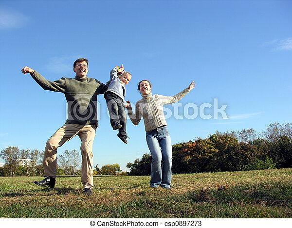 dancing family - csp0897273