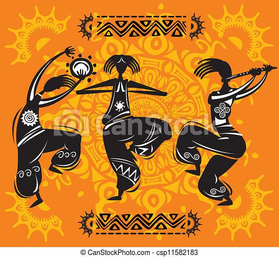 Dancing figures - csp11582183