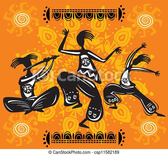 Dancing figures - csp11582189
