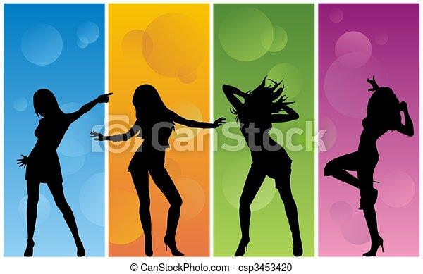 Dancing girl - csp3453420