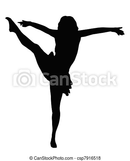 Dancing Girl High Kick - csp7916518