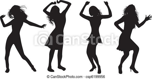 dancing girls - csp6199956