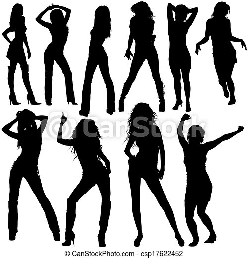 Dancing Girls Silhouettes Dancing Girls