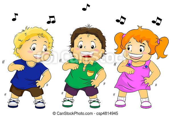 Dancing Kids - csp4814945