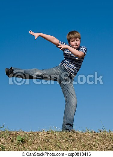 dancing little boy - csp0818416