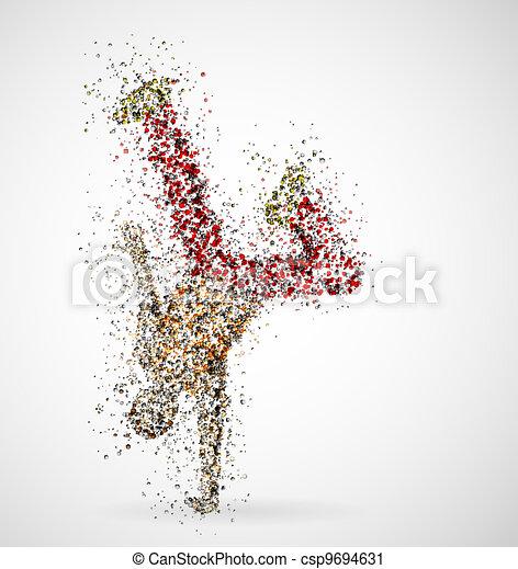 Dancing male - csp9694631