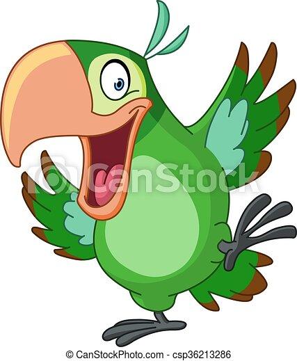Dancing parrot - csp36213286