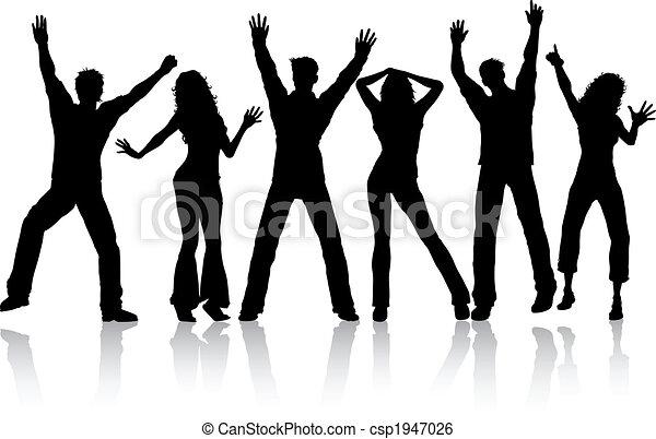 Dancing people - csp1947026