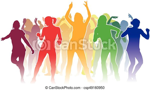 Dancing people - csp49160950