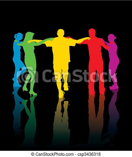 Dancing people - csp3436318