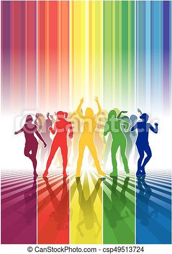 Dancing people - csp49513724