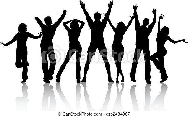 Dancing people - csp2484967