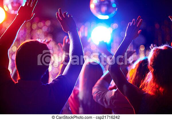 Dancing people - csp21716242