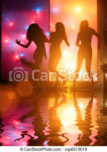 Dancing people - csp6513019
