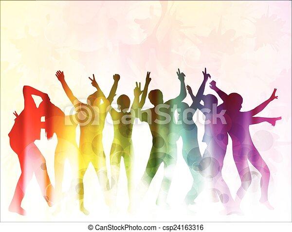 Dancing people - csp24163316