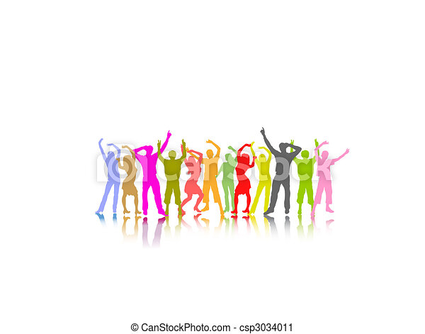 dancing people - csp3034011