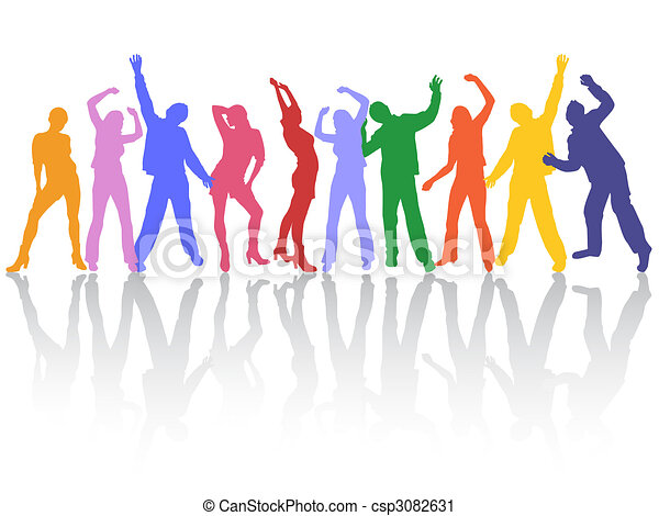 dancing people - csp3082631