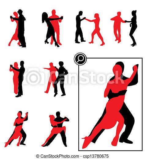 dancing silhouettes - csp13780675
