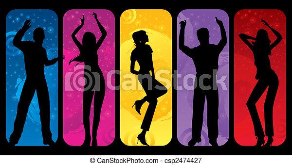 Dancing Silhouettes - csp2474427