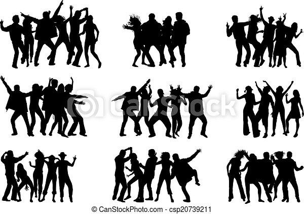 Dancing silhouettes - csp20739211