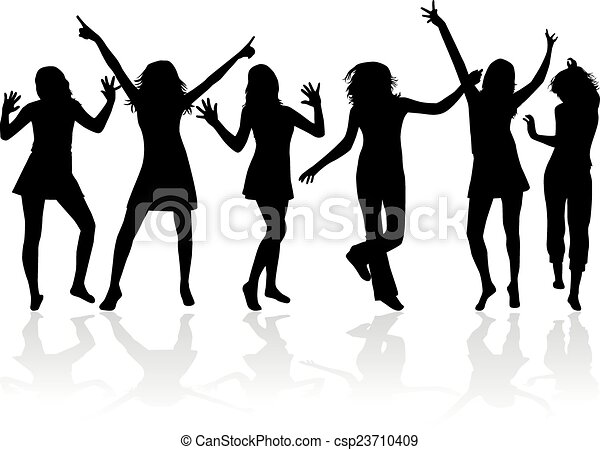 Dancing silhouettes - csp23710409