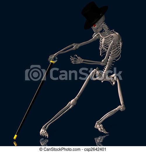 Dancing Skeleton #02 - csp2642401