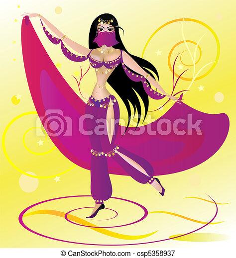 dancing woman - csp5358937