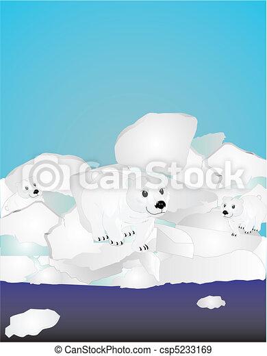 Danger at the Polar ice caps... - csp5233169