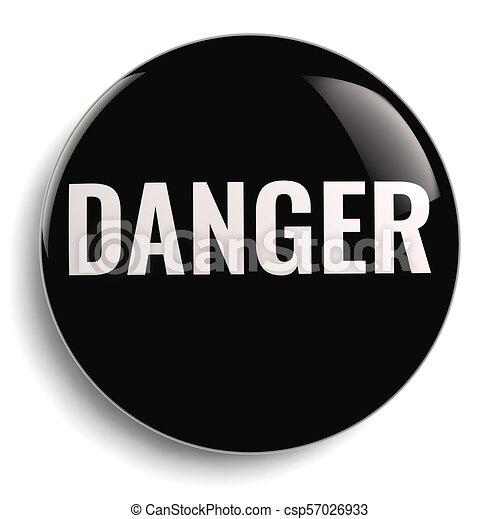 Danger Black Round Icon Symbol - csp57026933