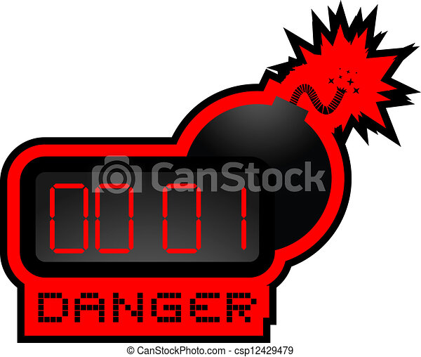 Danger bomb - csp12429479